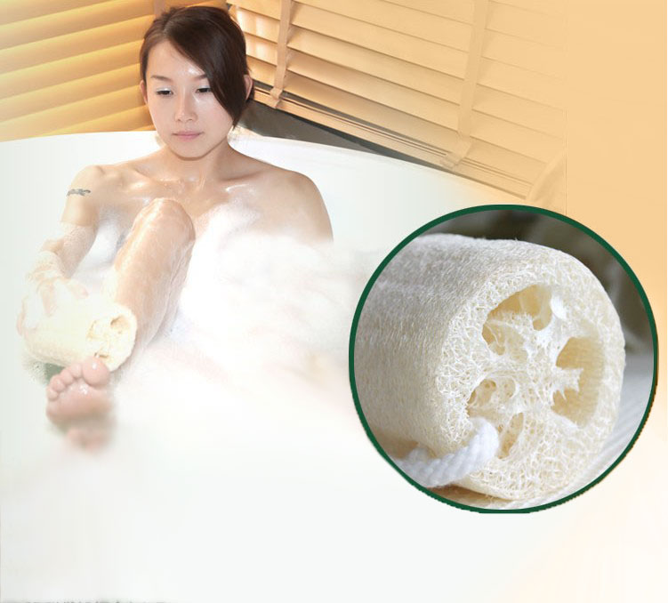 Honana BX Natural Loofah Bath Body Shower Sponge Scrubber Pad Exfoliating Body Cleaning Brush