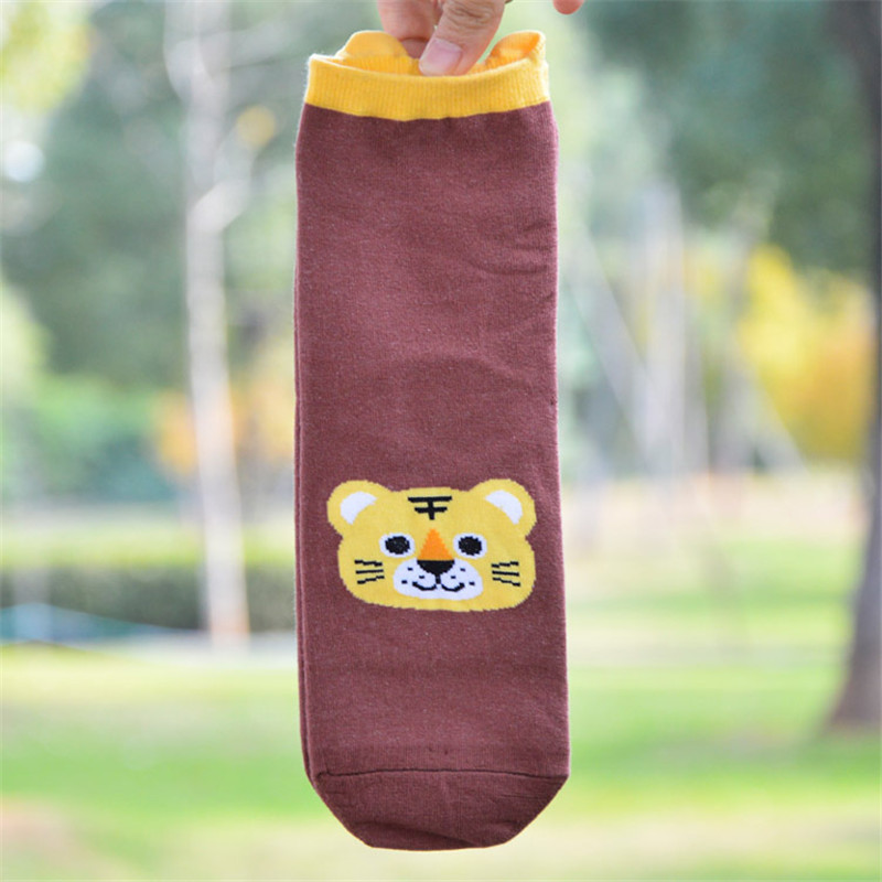 Womens Cute Cartoon Embroidery Animal Cotton Stereo Hosiery Socks Low Cut Ankle Socks