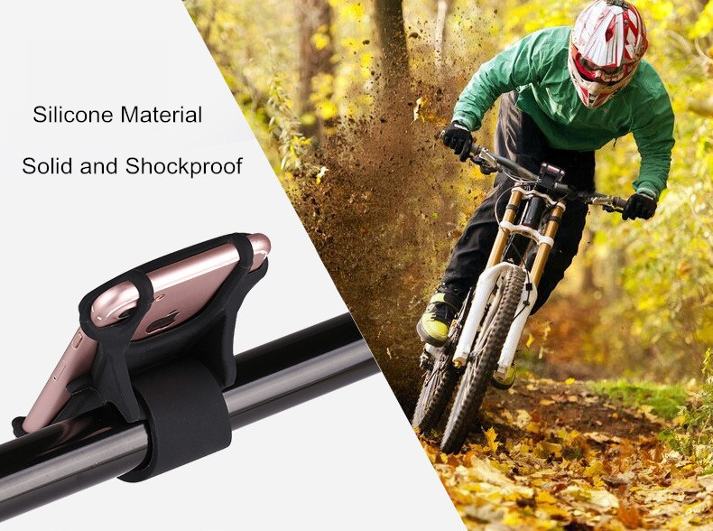 Bakeey™ Flexible Silicone Bicycle Motorcycle Holder Vehicle Handlebar Phone Mount for iPhone Samsung