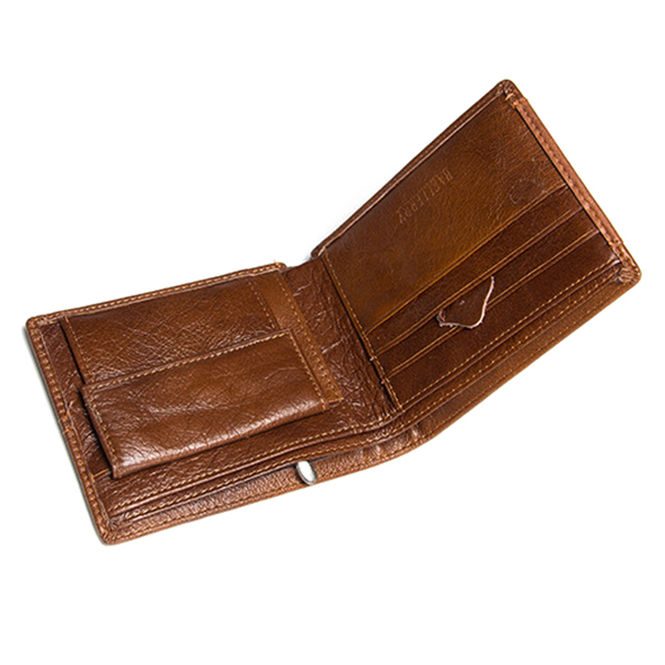 Men Short Wallet Genuine Leather Business Multifunction Coin Purse Card Holder