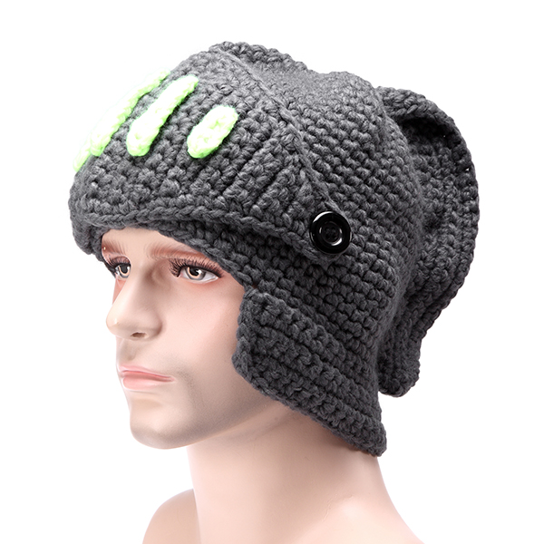 Special Offer Solid Adult Novelty Beanie Rome Knight Knitting Hat Manual Winter Cap