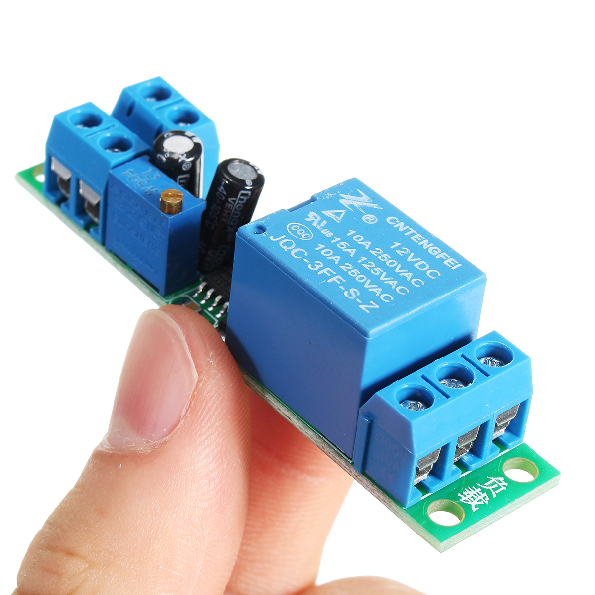 Dc 12v Switch Delay Relay Module Adjustable 025 Second Signal Working Principle