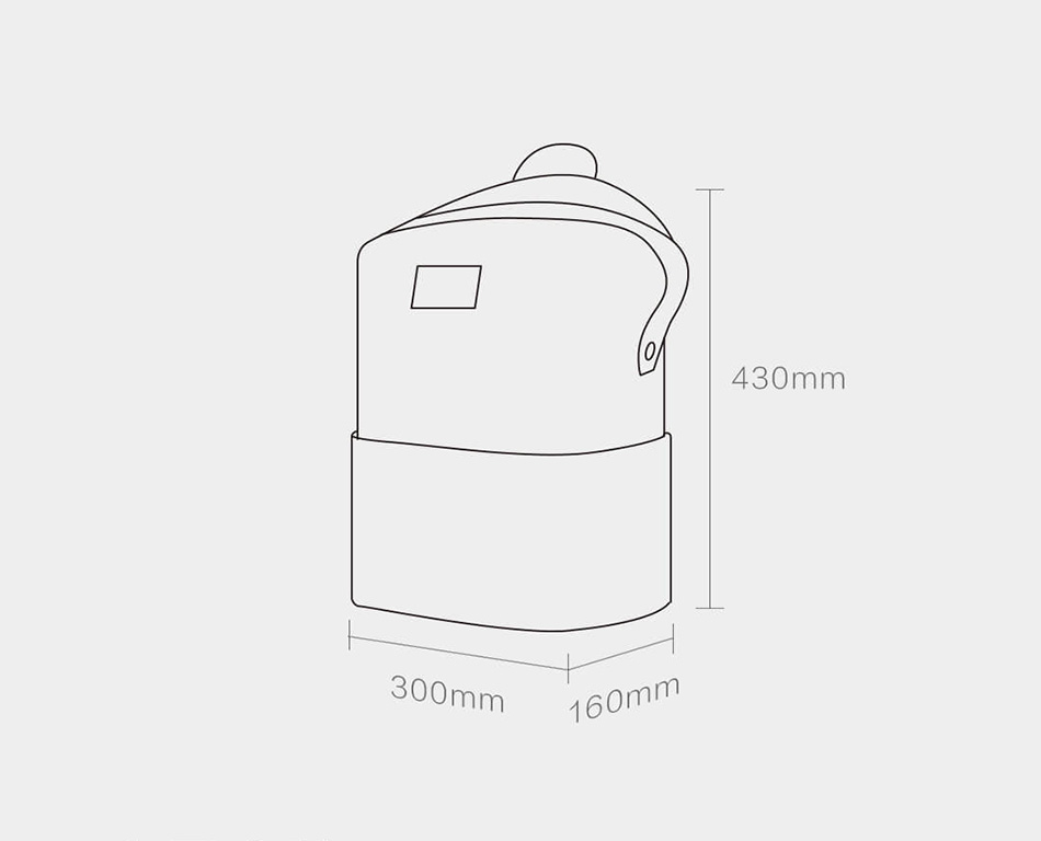 Xiaomi 90FUN Lecturer Fashion School Bag Durable Waterproof Security Multifunctional Pack Fits For 13.3 Inch Laptop Computer
