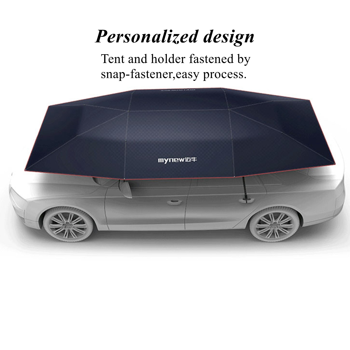 Portable Semi-auto Outdoor Car Umbrella Sunshade Roof Cover Tent Protection