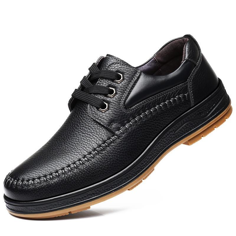 Men Genuine Leather Dress Shoes Oxfords