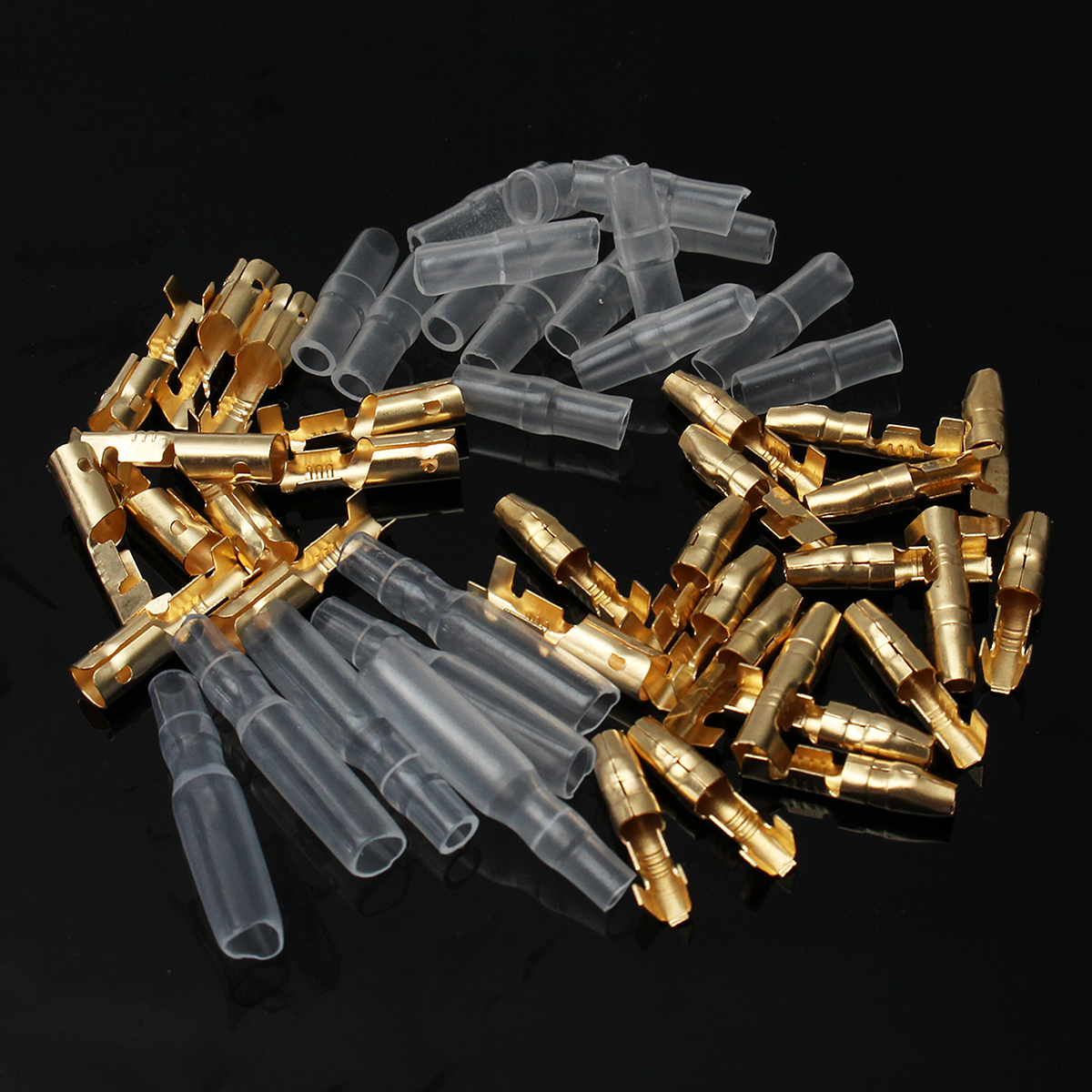 50 Sets 3.9mm Male & Female Motorcycle Bullet Connector Socket Classic Terminals