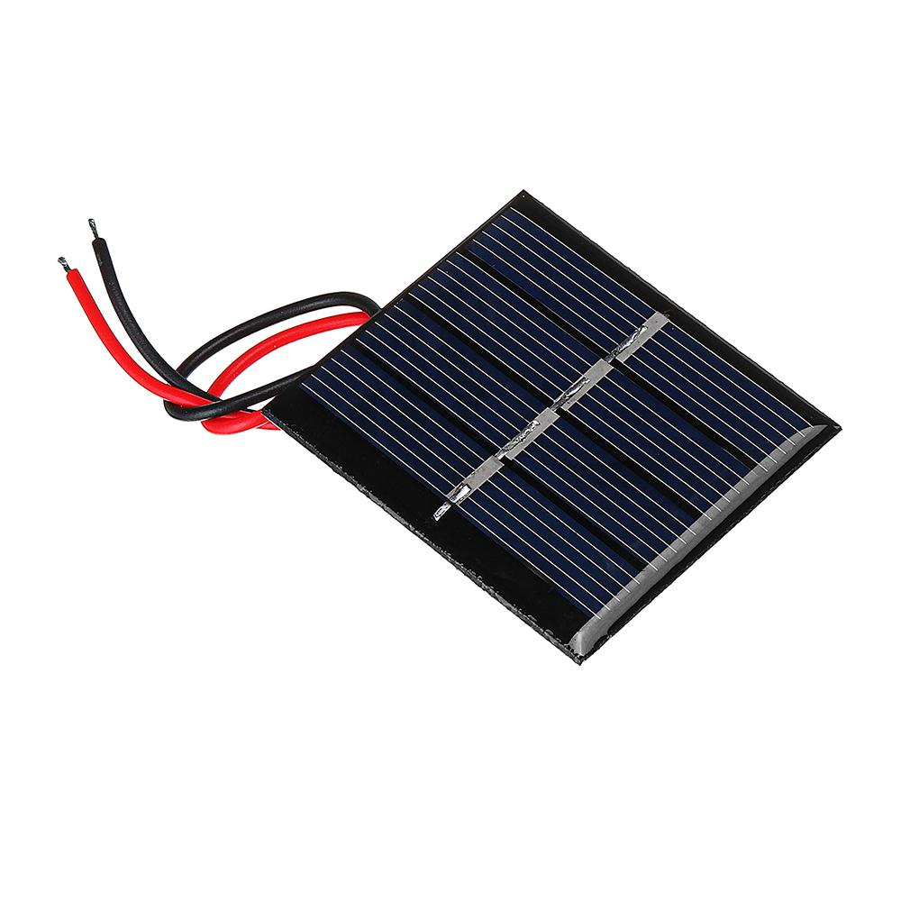 Image of 0.36W 2V 42.5 * 48.5 * 3mm Sonnenkollektor-Epoxid-Brett mit Draht