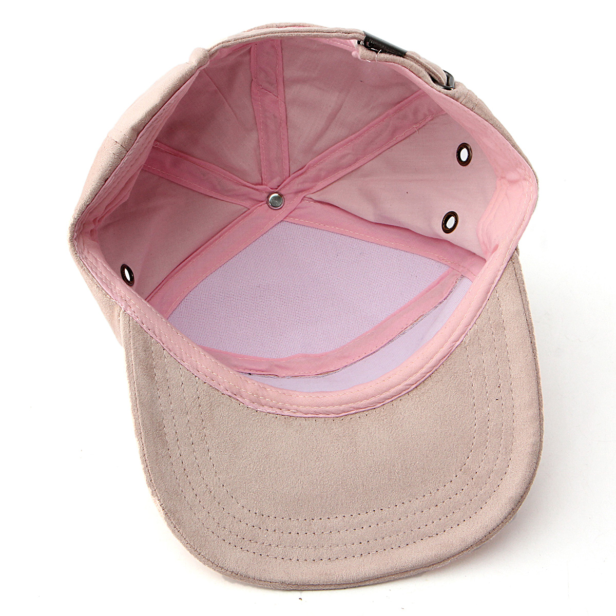 Women Macaron Color Suede Hip-hop Hat Men Flat Brimmed Visor Baseball Caps