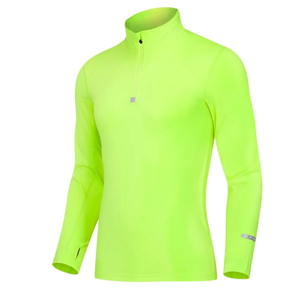 Mens Thick Training Fitness Tight Sportswear Zipper Pullover Long Sleeve Sport Tops