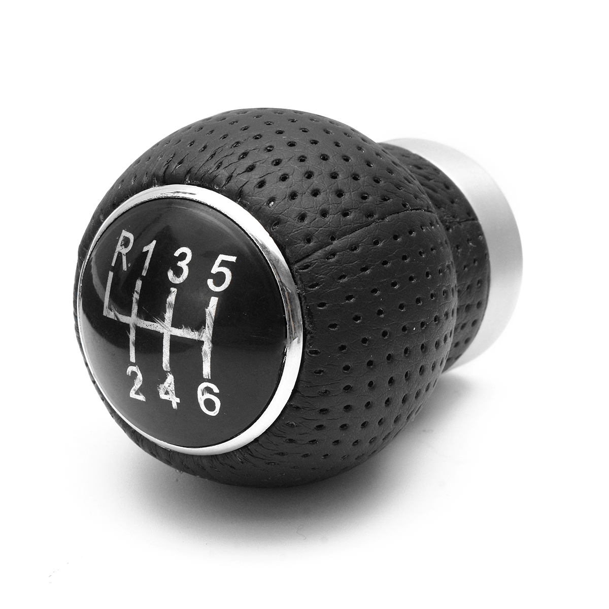 Universal Car 6 Speed Leather Manual Gear Shift Knob Shifter Lever