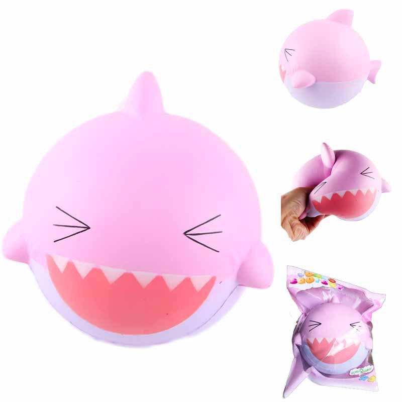 SanQi Elan Squishy Розовый Shark 15 см Jumbo Slow Rising Soft С упаковкой Коллекция игрушек для подарков