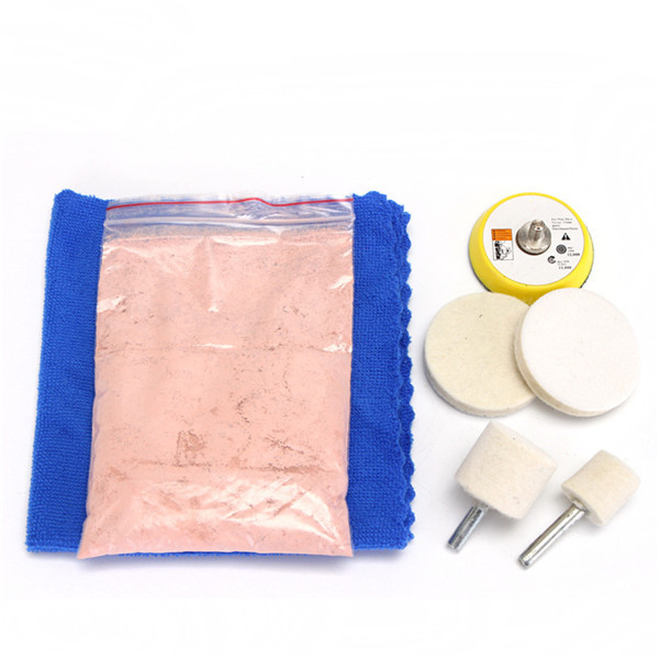 7pcs Glass Scrach Remover 70g Cerium Oxide Polishing Kit and 2 Inch Wheel