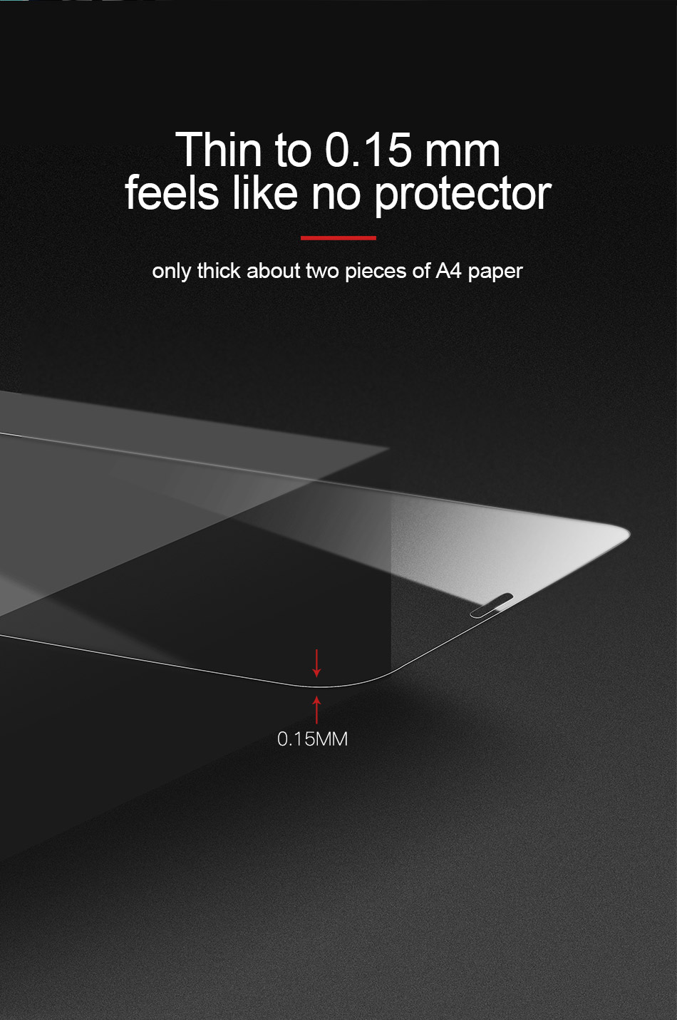 Baseus Upgrade Full Glass Screen Protector For iPhone XR 0.15mm Scratch Resistant Tempered Glass Film
