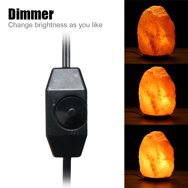 28 X 17CM Himalayan Glow Hand Carved Natural Crystal Salt Night Lamp Table Light With Dimmer Switch