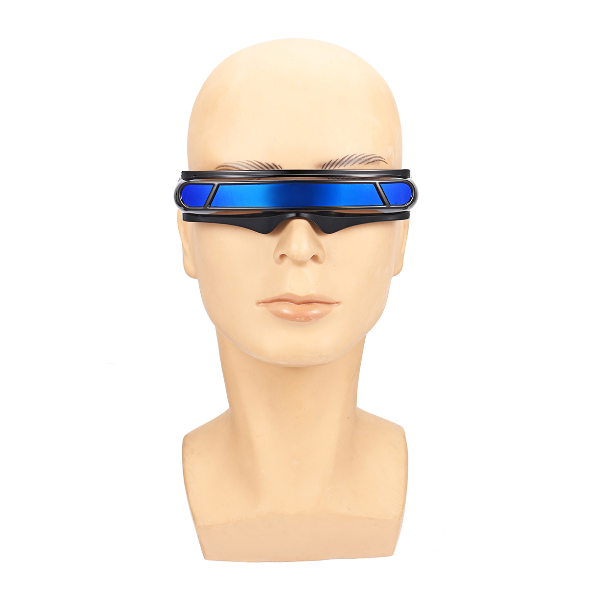 Futuristic Sunglasses Mirrored Narrow Lens