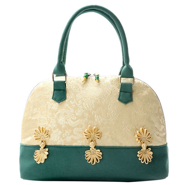 Elegant Women National Style Silks and Satins Canvas Bag