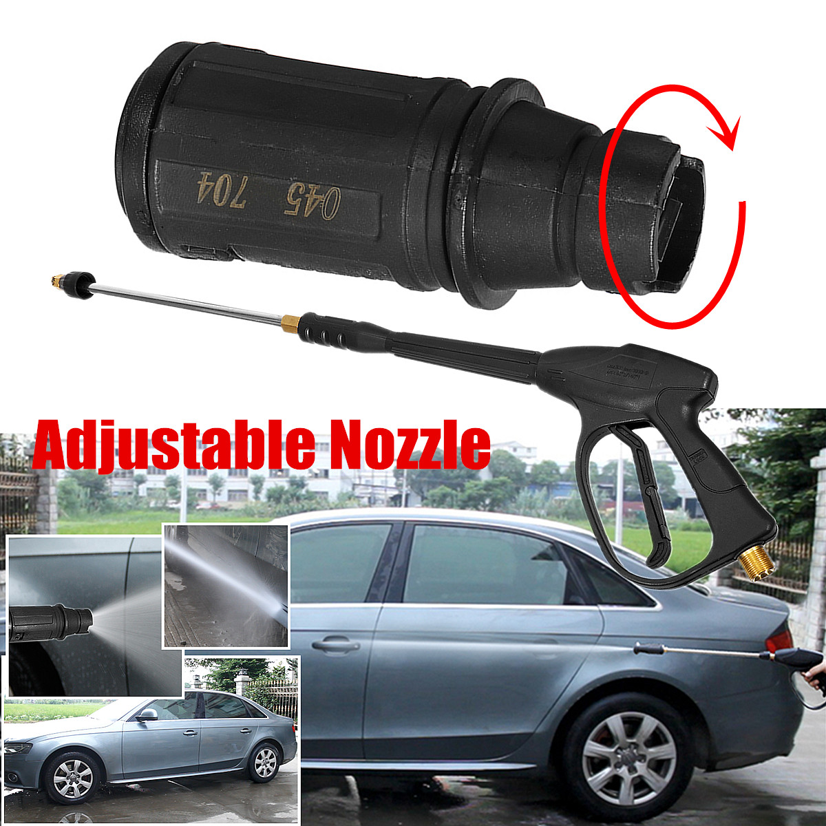 3000PSI 250bar Car High Pressure Washer Washing Adjustable Nozzle Cleaner Water Sprayer