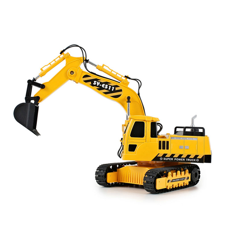 Double Eagle E511-003 1/20 2.4G 8CH Rc Car Excavator Engineering Truck W/ Light Sound Toys