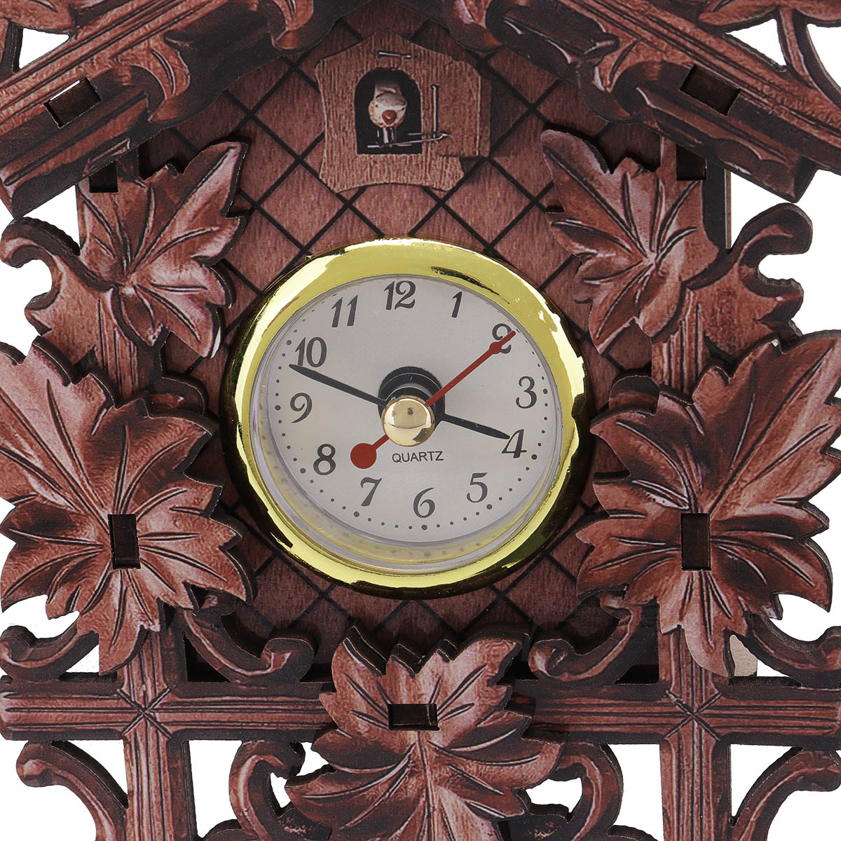 Maple Leaf Black Forest Home Cafe Art Chic Swing Vintage Cuckoo Wall Clock
