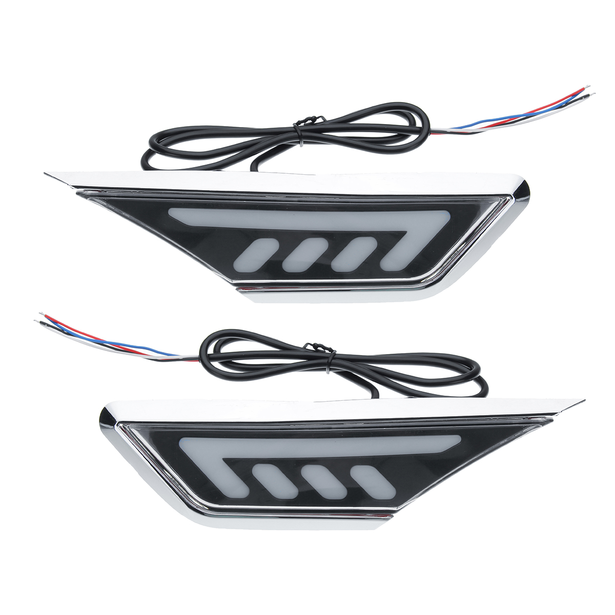 2pcs Yellow White LED Car Leaf Board Side Marker Lights Lamps for Honda Civic 10th 16-17