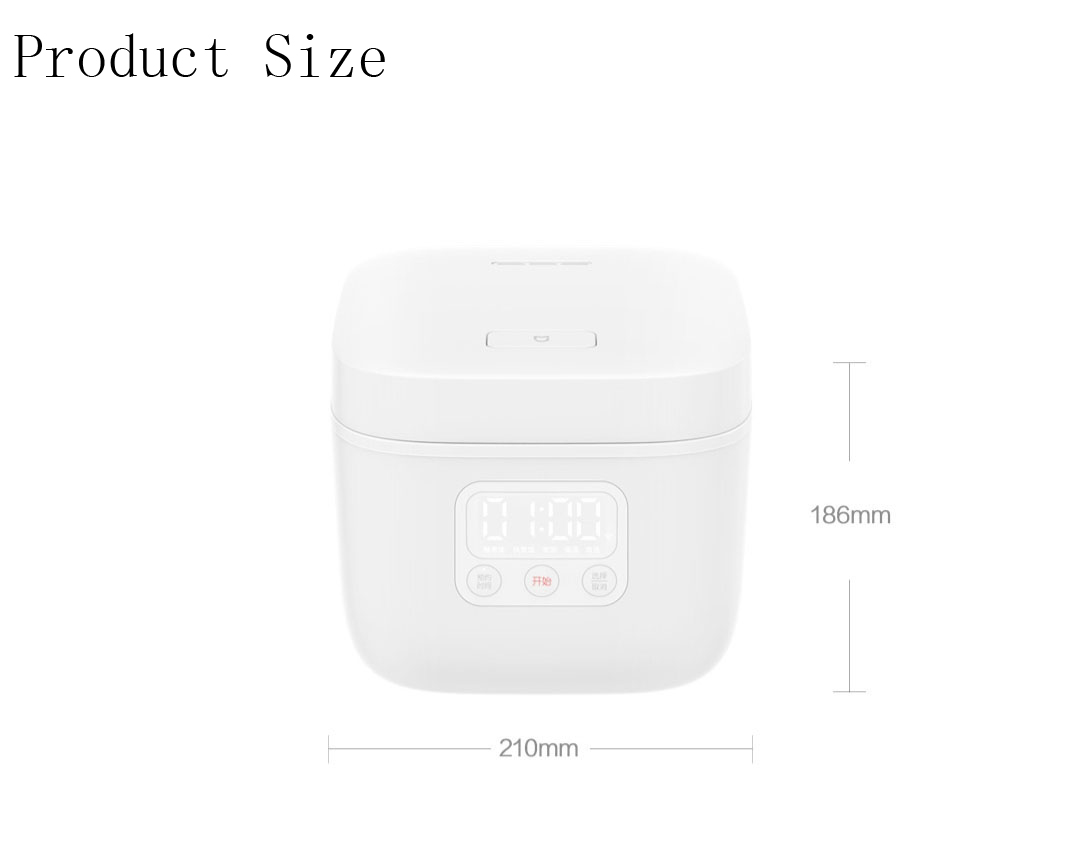 XIAOMI Mijia DFB201CM Small Rice Cooker 1.6L 400W APP Linkage Non-stick rice Cooker