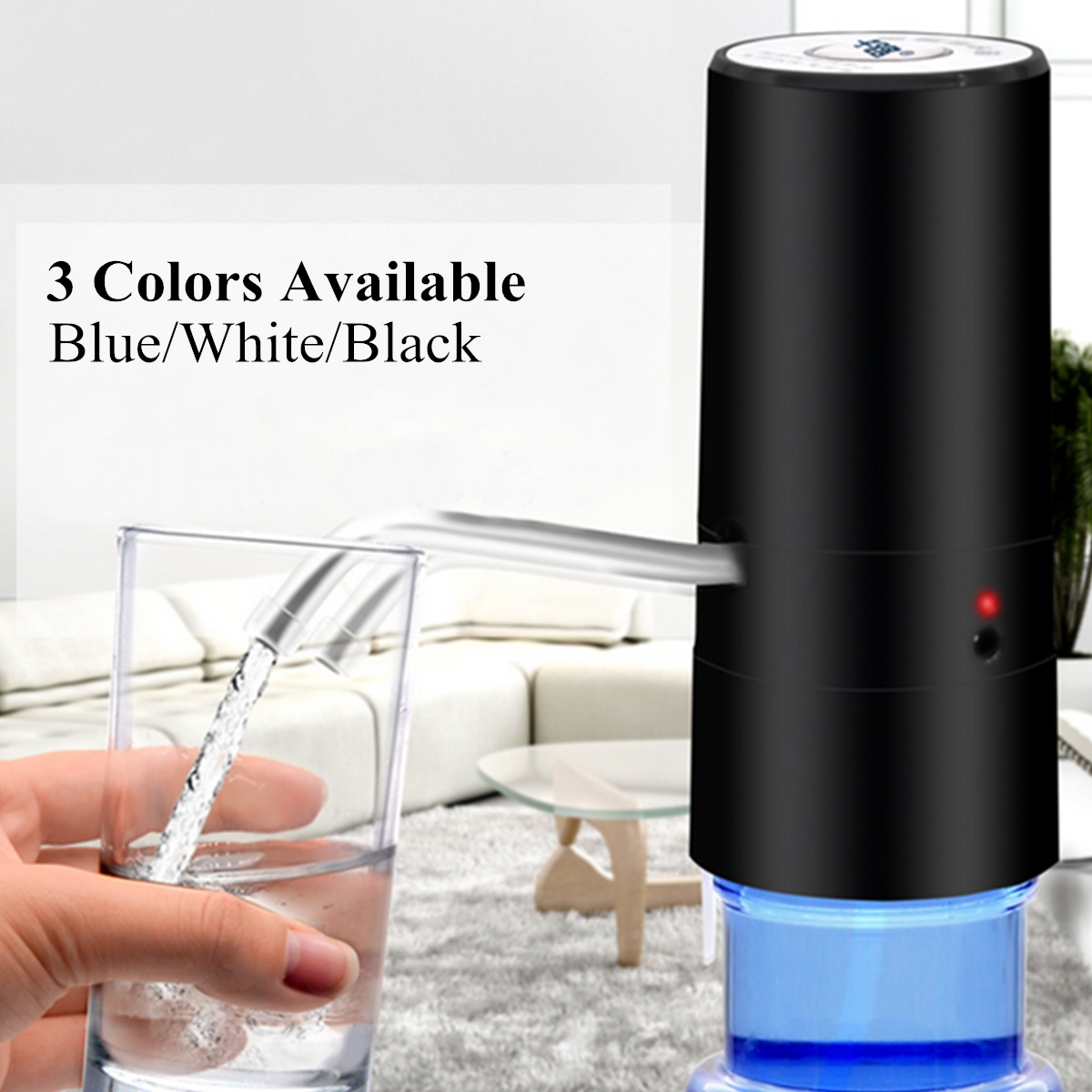 Rechargeable Automatic Electric Water Pump Dispenser Gallon Drink Bottle Switch
