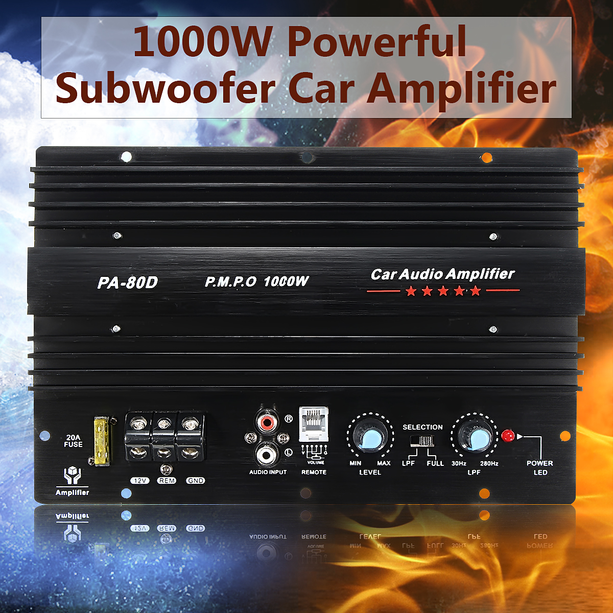 12v 1000w Mono Car Audio Power Amplifier Powerful Bass Subwoofers Diagram Build A Circuit Electronic Amp