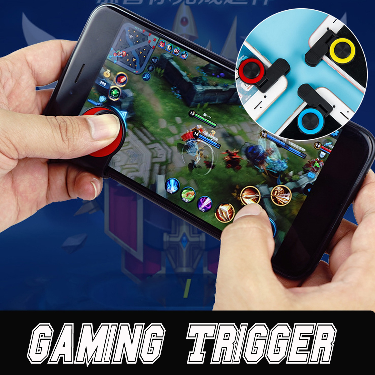 Bakeey A9 Mobile Trigger L1R1 Button Game Shooter Game Controller for Smartphone