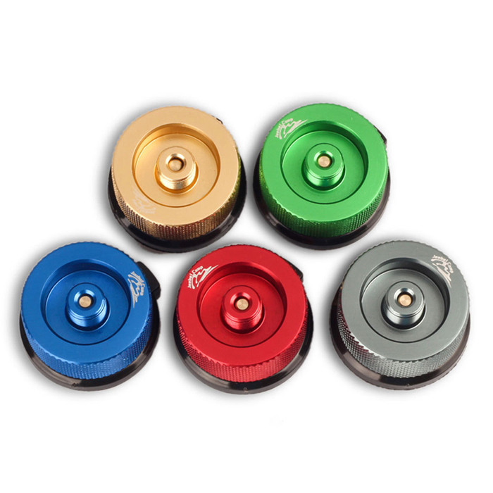 LAOTIE Colorful Camping Stove Converter for Butane Canister to Screw Gas Cartridge Adapter