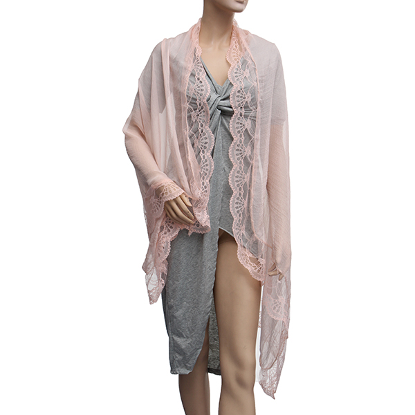 Women Ladies Chiffon Lace Floral Sunscreen Soft Scarves Shawl Neck Wrap Beach Gown