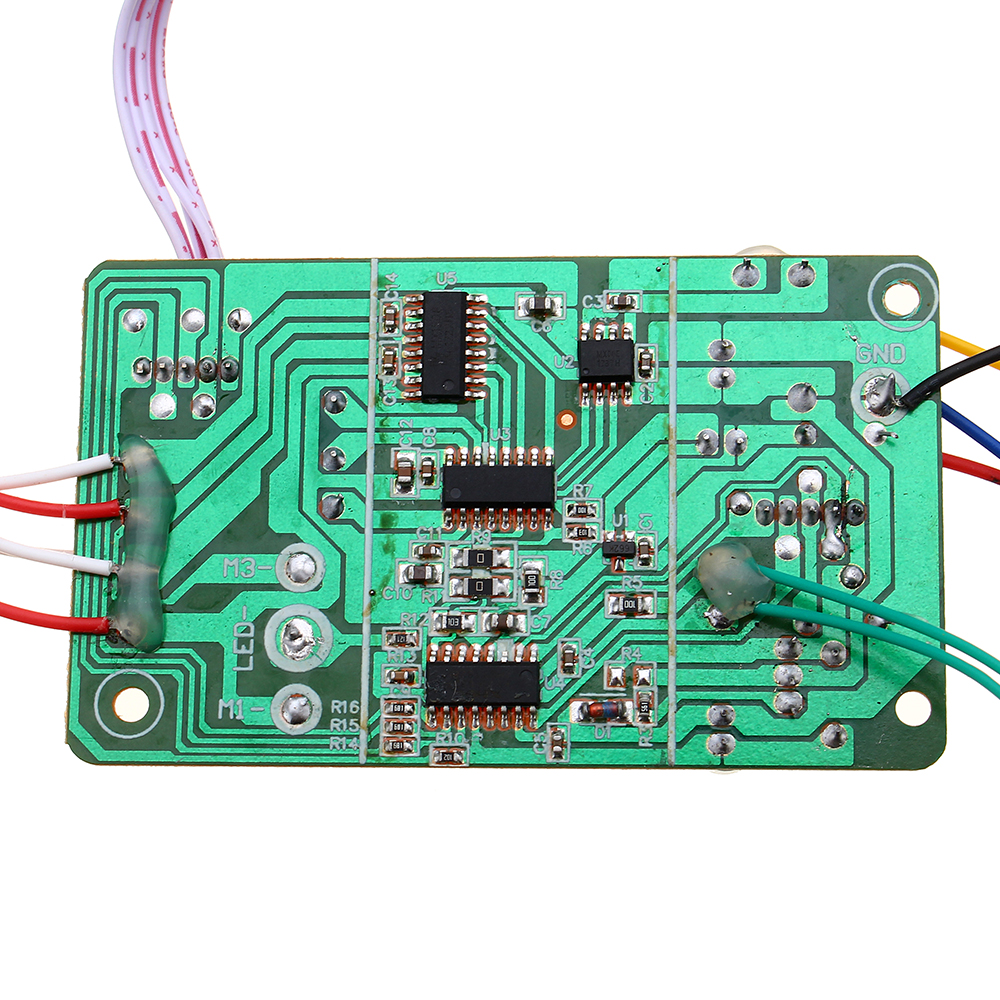 2.4G 6CH 30 Meter Radio Transmitter 6-8V Receiver Board with Speaker for DIY Tank Ship