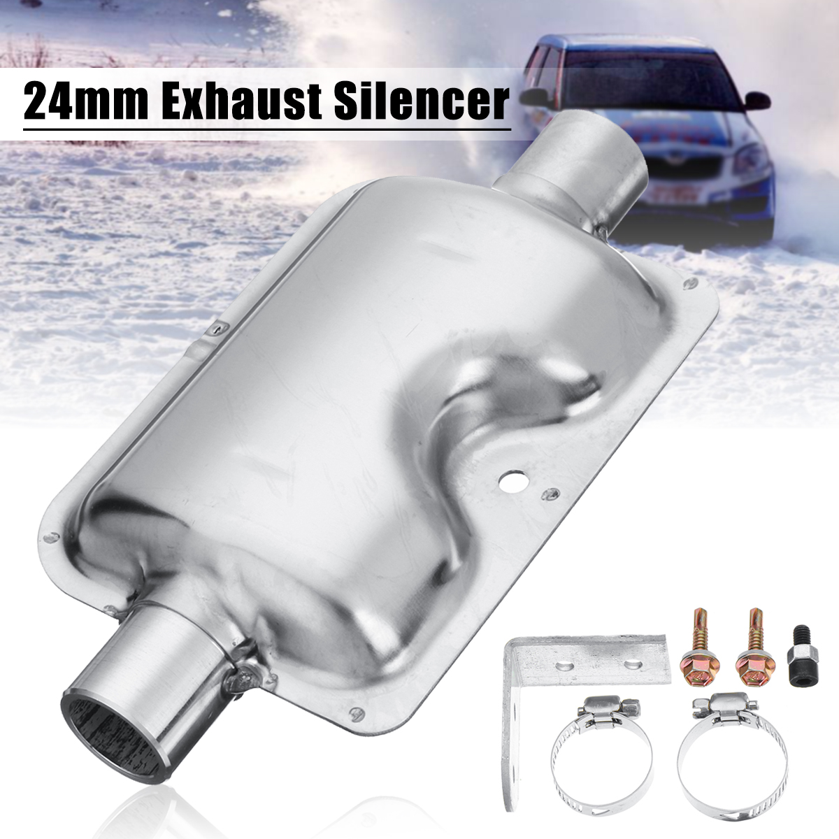 24mm Pipe Silencer Exhaust Muffler Clamps Bracket For Ebespacher Diesel Heater