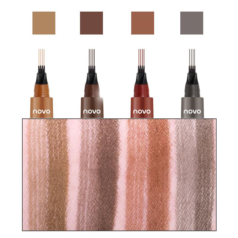 4 Colors Four-bifurcated Liquid Eyebrow Pen Waterproof