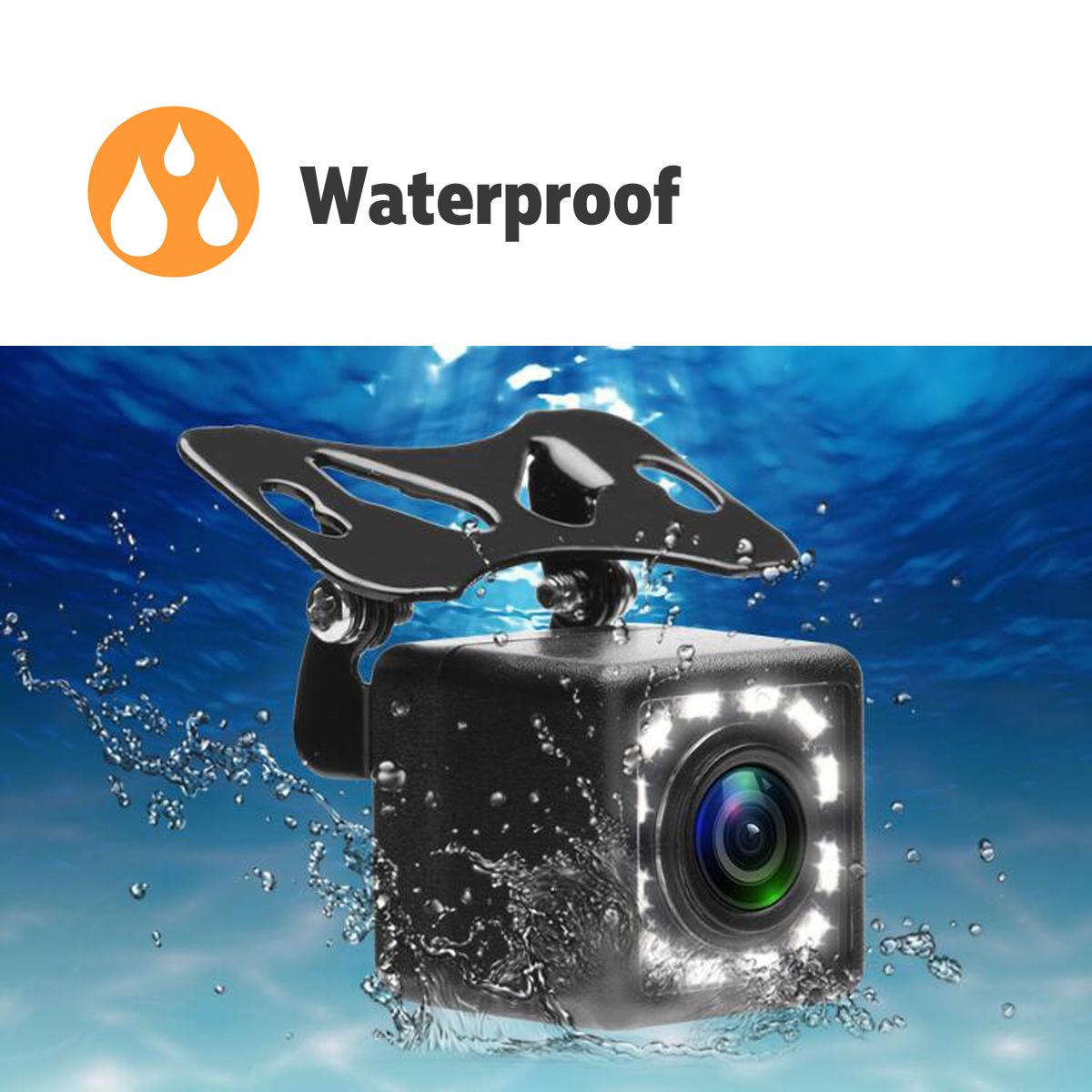170 Degree HD Car Rear View Camera Reverse Backup Parking Camera LED Night Vision Waterproof