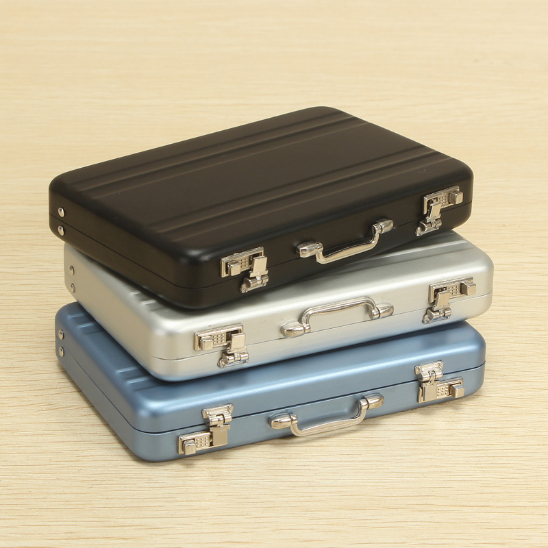 Aluminum Business Credit Cards Box Mini Suitcase Card H