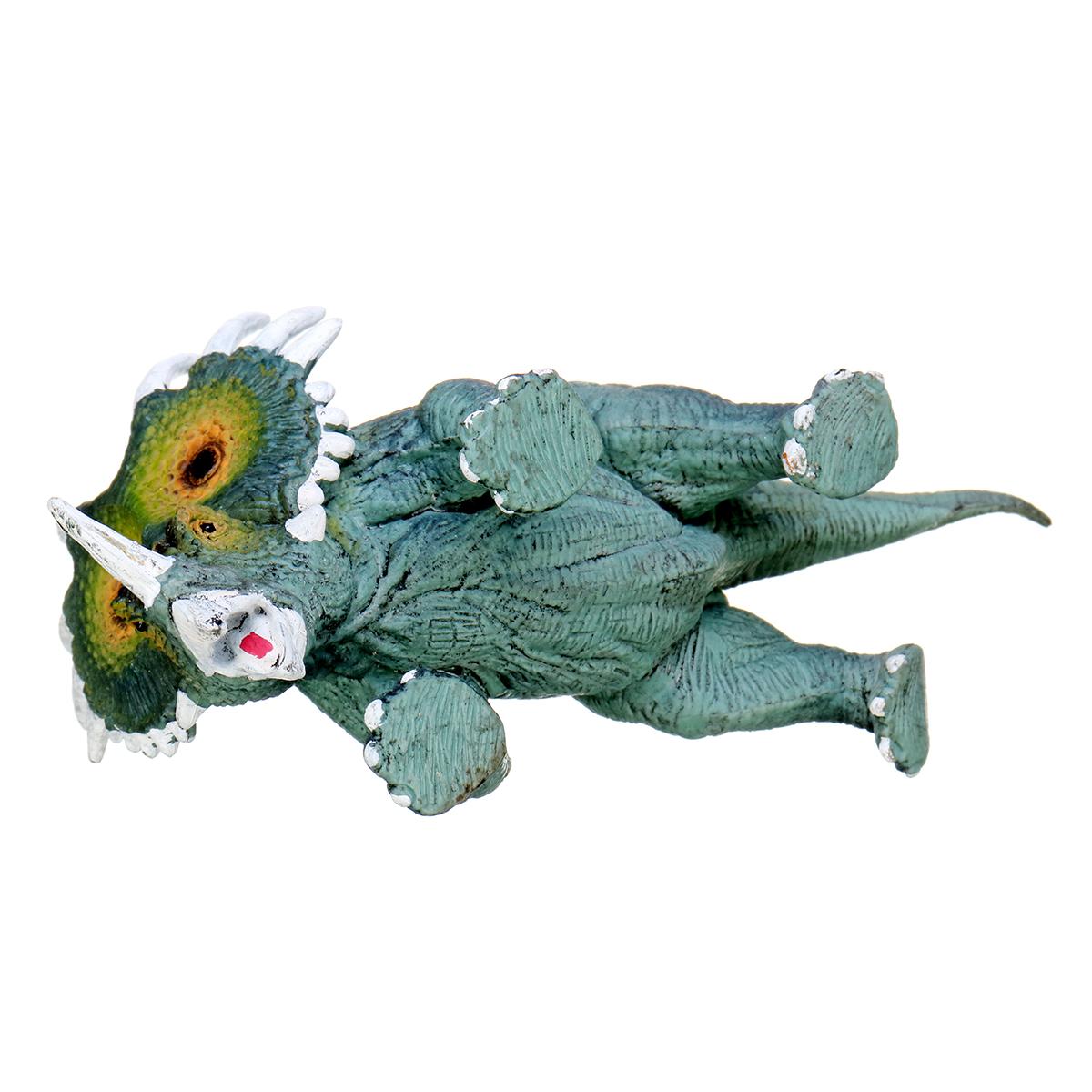 Dinosaur Toy Styracosaurus Diecast Model Kid Gift Collection Trident Dragon