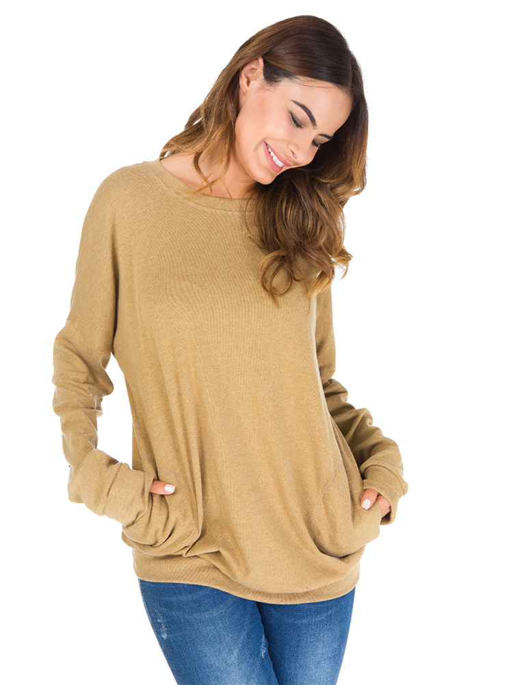 Plus Size Casual Women Basic Batwing Sleeve Shirts