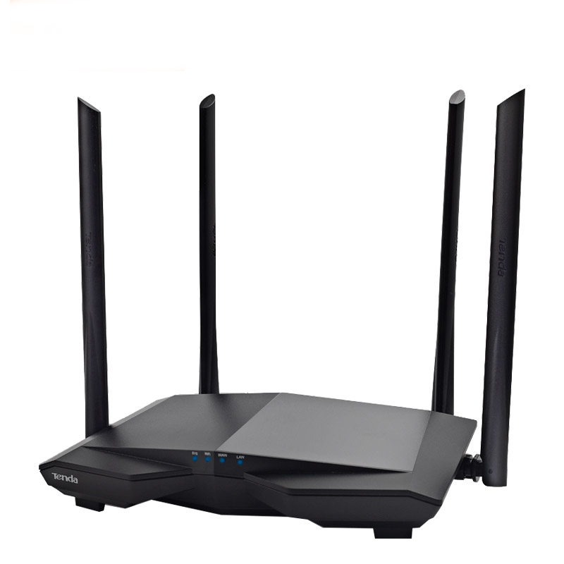 Tenda AC6 1200Mbp Wireless Wifi Router 2.4/5G 4*5dBi Antena App Control Router Fiber Speed 10/100Mbp