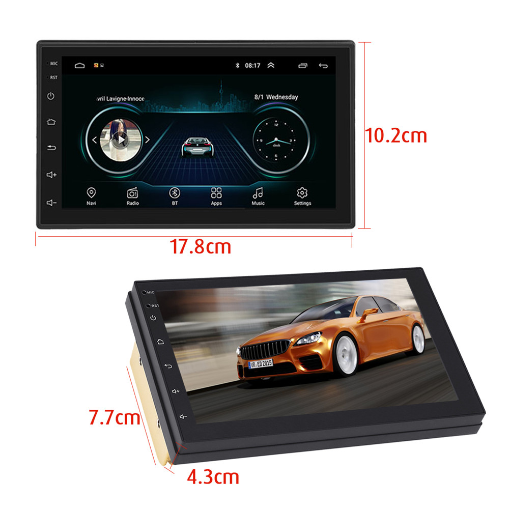 iMars 7 Inch 2 Din for Android 8.0 Car Stereo Radio MP5 Player 2.5D Screen GPS WIFI bluetooth FM with Rear Camera