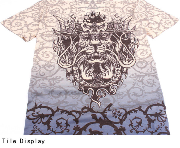 Chinese Dragon Printing Summer V-neck Short Sleeve Personality Men T-shirt