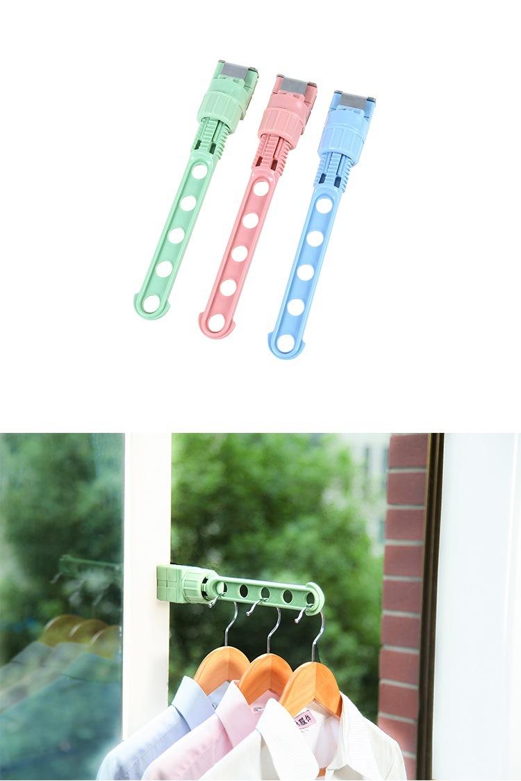 Creative Window Frame Cloth Hanger Rack Hang Holder 5 Hole Hanging Coat Storage Laundry Rack
