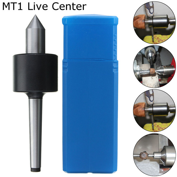MT1 Carbide Tipped Live Center Morse Taper Steel Lathe Revolving Tool