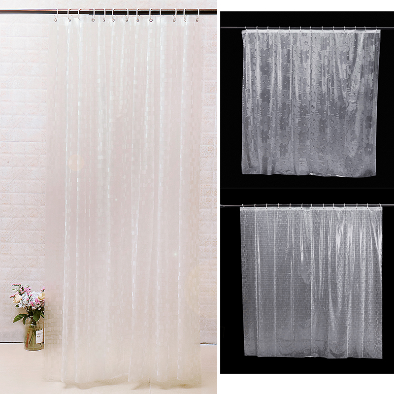 3D Shower Curtain Mildew Proof Thick Waterproof Fabric Shower Curtains PVC Bath Curtain Bathroom Products