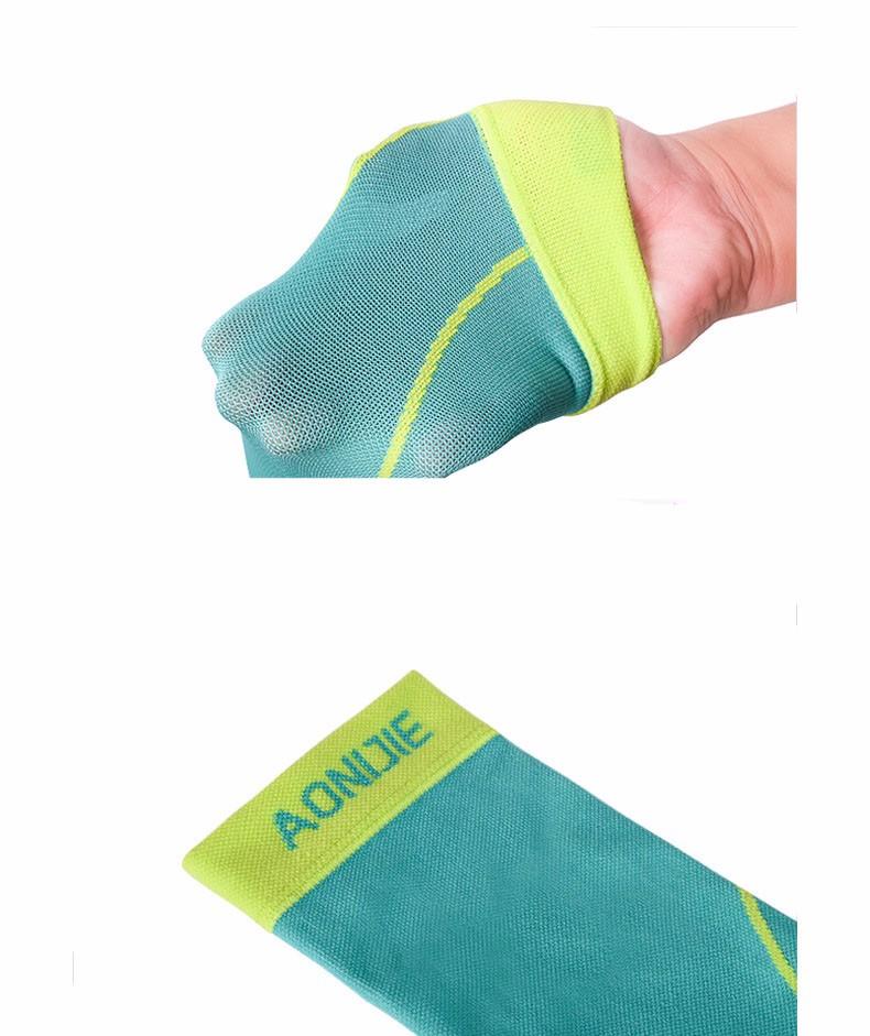 AONIJIE 1 Pair Sports Compression Leg Sleeve Calf Shin Guard Running Basketball Protector