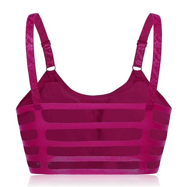 Ice Silk Seamless Strappy Back Padded Sports Bra