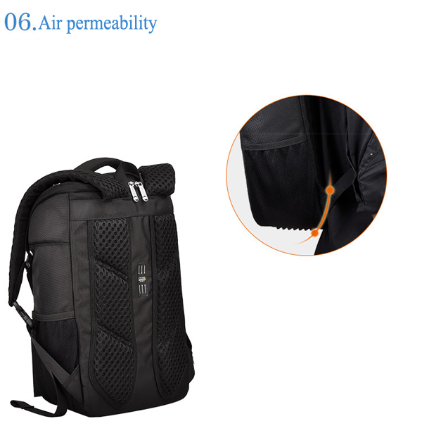 Men Waterproof Business Backpack Fashion Laptop Bag for 15.6 Inch Laptop