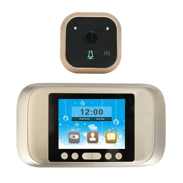 P02 3.2 inch LED Display Alloy Night Vision 720P Camera Peephole Viewer Visual Doorbell 160° Angle