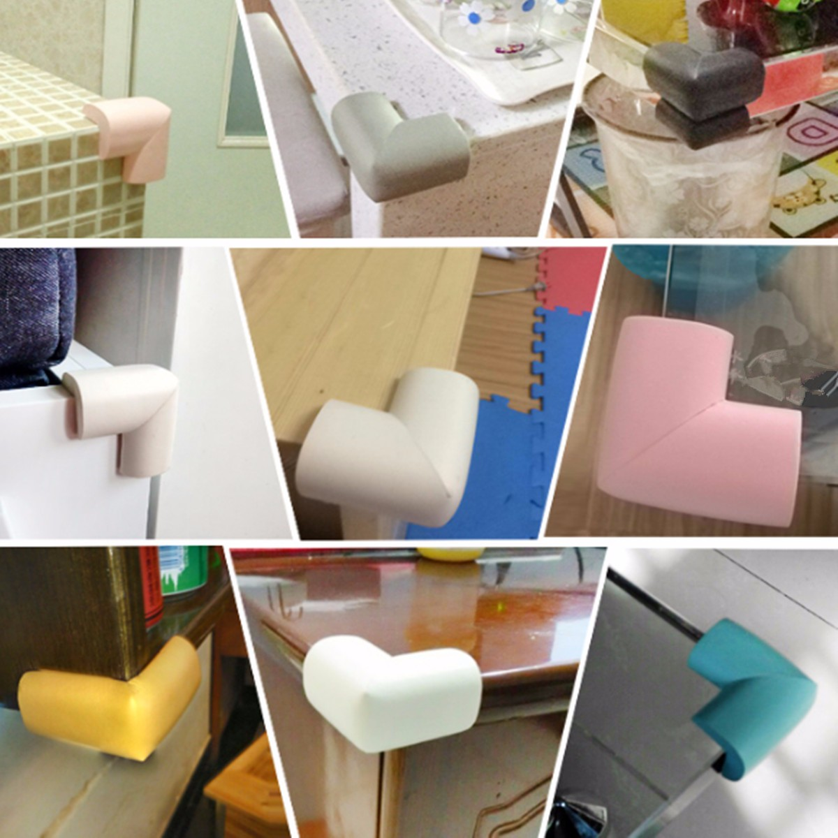 4PCS Baby Safety Table Desk Edge Corner Cushion Guard Softener Bumper Protector