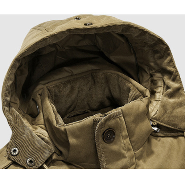 Mens Two Pieces Winter Outdoor Thick Warm Big Size Jacket