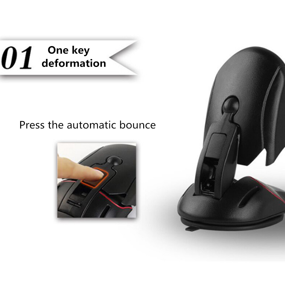 Universal Suction Cup Mouse Car Dashboard Phone Holder Stand for iPhone Xiaomi Samsung GPS
